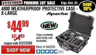 4800 Weatherproof Protective Case - X-Large