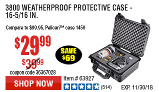 3800 Weatherproof Protective Case - 16-5/16 In.
