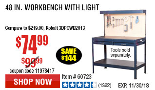 48 In. Workbench with Light