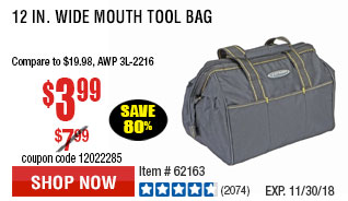 12 in. Wide Mouth Tool Bag