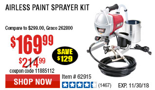 Airless Paint Sprayer Kit