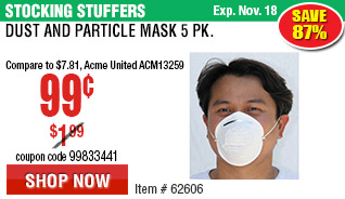 Dust and Particle Mask 5 Pk.