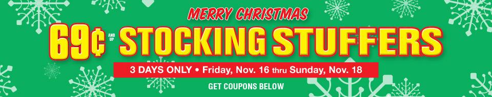 69 cent Stocking Stuffers Sale