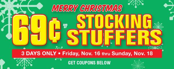 69 cent Stocking Stuffers Sale SALE