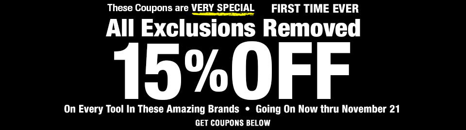 15 percent off no exclusions Sale