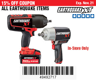All Earthquake Items on Sale, no Excusions