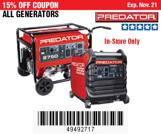 All Generators on Sale, no Excusions