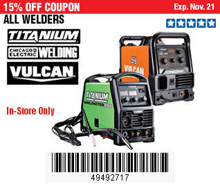 All Welders on Sale, no Excusions