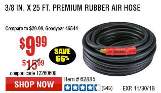 3/8 in. x 25 ft. Premium Rubber Air Hose