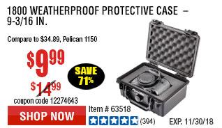 1800 Weatherproof Protective Case  –  9-3/16 In.