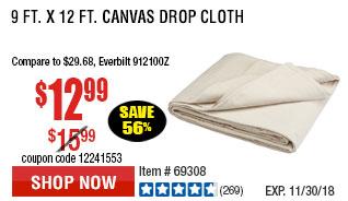 9 Ft. x 12 Ft. Canvas Drop Cloth