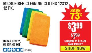 Microfiber Cleaning Cloth 12x12 12 Pk.