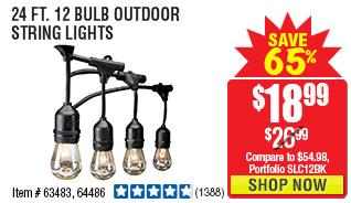 24 Ft. 12 Bulb Outdoor String Lights