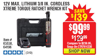 12V Max Lithium 3/8 In. Cordless Xtreme Torque Ratchet Wrench Kit