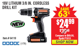 18V Lithium 3/8 in. Cordless Drill