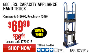 600 lbs. Capacity Appliance Hand Truck