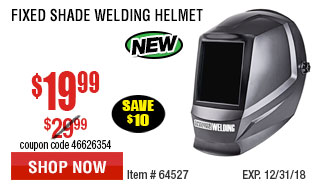 Fixed Shade Welding Helmet