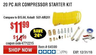 20 Pc Air Compressor Starter Kit