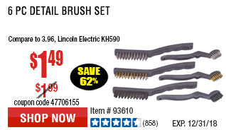 6 Pc Detail Brush Set