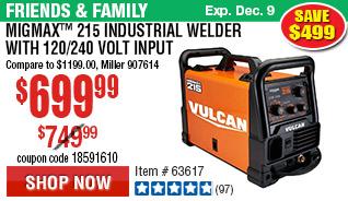 MIGMax™ 215 Industrial Welder with 120/240 Volt Input