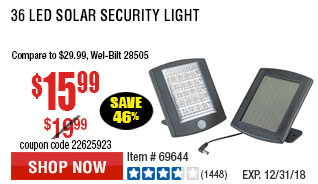 36 LED Solar Security Light
