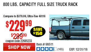 800 lbs. Capacity Full Size Truck Rack