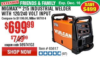 MIGMax™ 215 Industrial Welder with 120/240 Volt Input