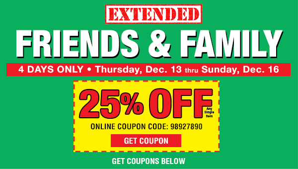 Extended Friends and Family Sale