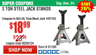3 Ton Steel Jack Stands