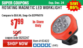 Rotating Magnetic LED Worklight