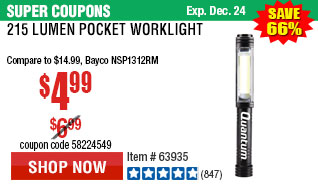 215 Lumen Pocket Worklight