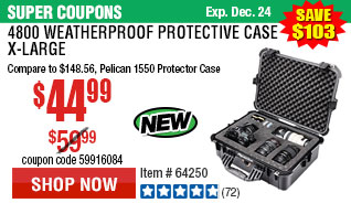 4800 Weatherproof Protective Case - X-Large