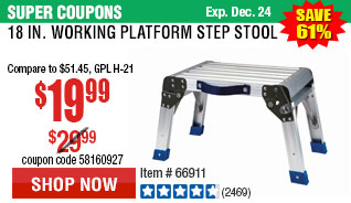 18 In. Working Platform Step Stool