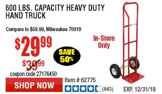 600 lbs. Capacity Heavy Duty Hand Truck