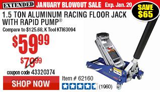 1.5 Ton Aluminum Racing Floor Jack with Rapid Pump®