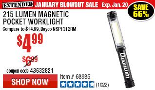 215 Lumen Magnetic Pocket Worklight