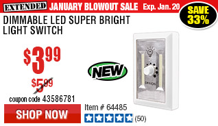 Dimmable LED Super Bright Light Switch