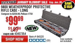 9800 Weatherproof Protective Rifle Case - Long