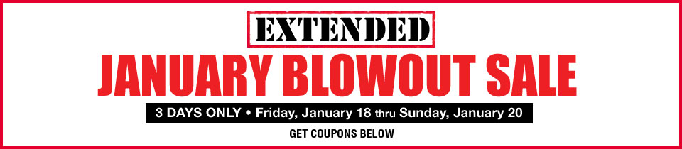 January Blowout Sale Extended