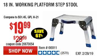 18 In. Working Platform Step Stool