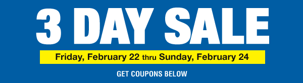3 Day Sale
