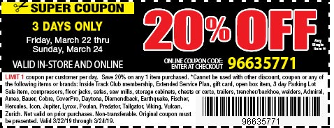 20% Off coupon