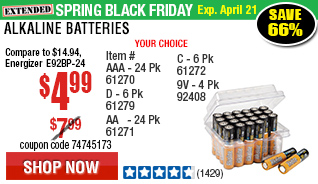 AAA Alkaline Batteries 24 Pk