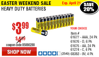 AA Heavy Duty Batteries 24 Pk