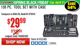 130 Pc Tool Set with Case