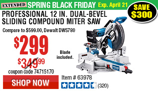 Professional 12 in. Dual-Bevel Sliding Compound Miter Saw