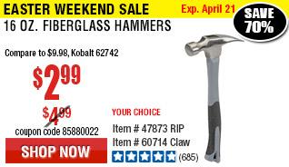 16 oz. Fiberglass  Hammer