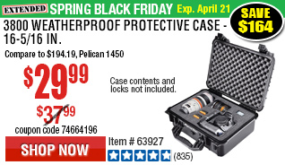 3800 Weatherproof Protective Case - 16-5/16 In.$194.19