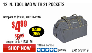 12 in. Tool Bag with 21 Pockets