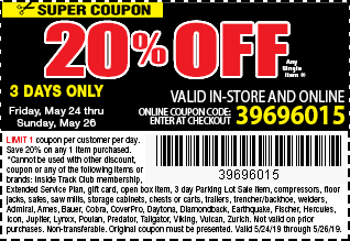 Memorial Day Sale 20% OFF Coupon